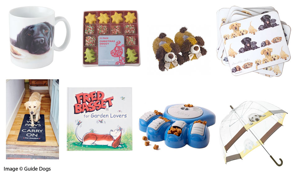 Some of the gifts available from the Guide Dogs Dogalogue shop