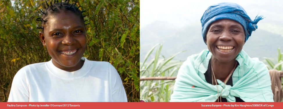 Two beneficiaries of Concern Worldwide programmes