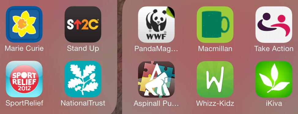 Charity smartphone apps iphone screenshot