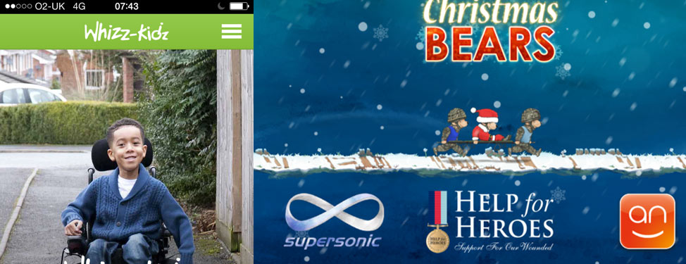 Screenshot of Whizz-Kidz and Help for Heroes apps