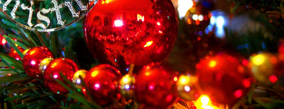 Christmas decorations and lights