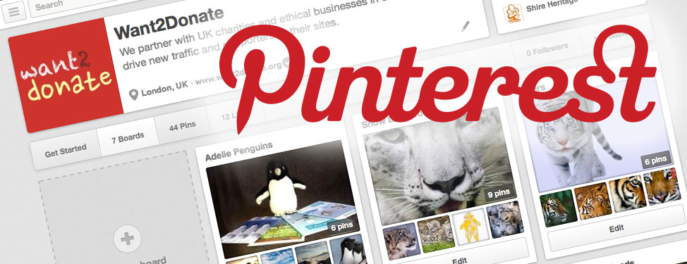 A screenshot of our Pinterest page