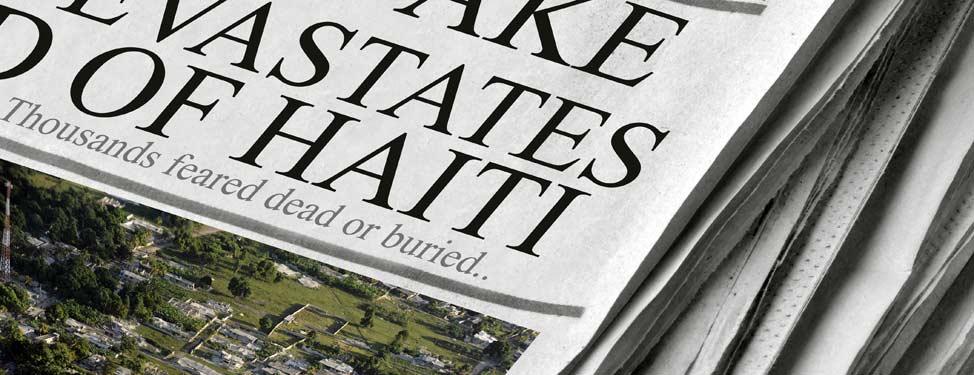 Haiti quake newspaper headline