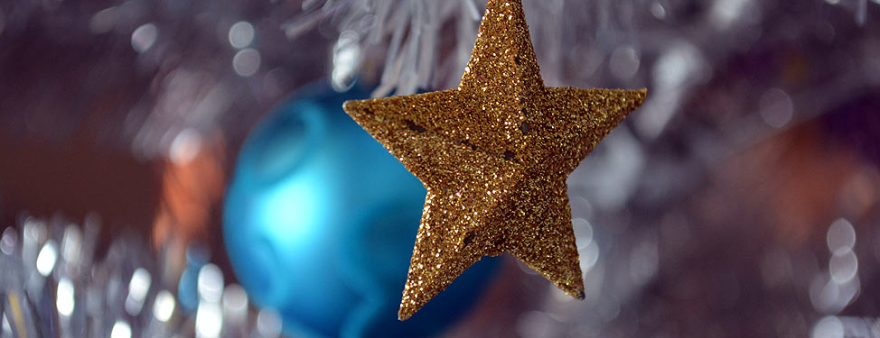 Decorations on a Christmas tree