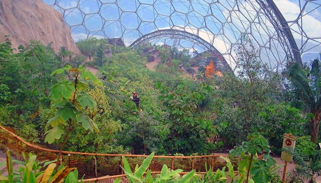 Lovely view from inside an Eden Project dome