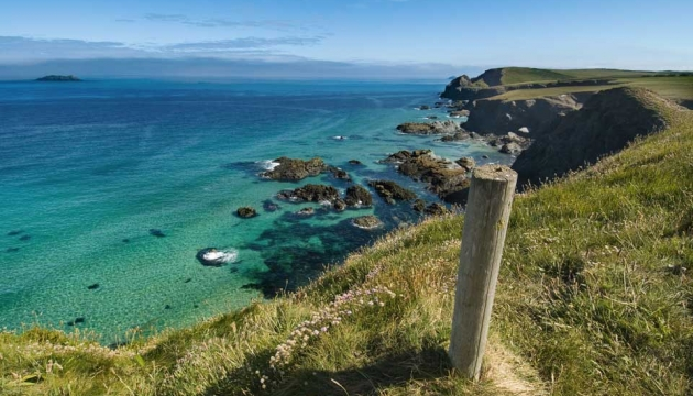 Beautiful coast path walk