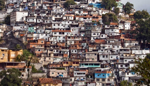 A shanty town