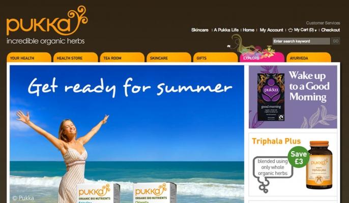 The Pukka Herbs website