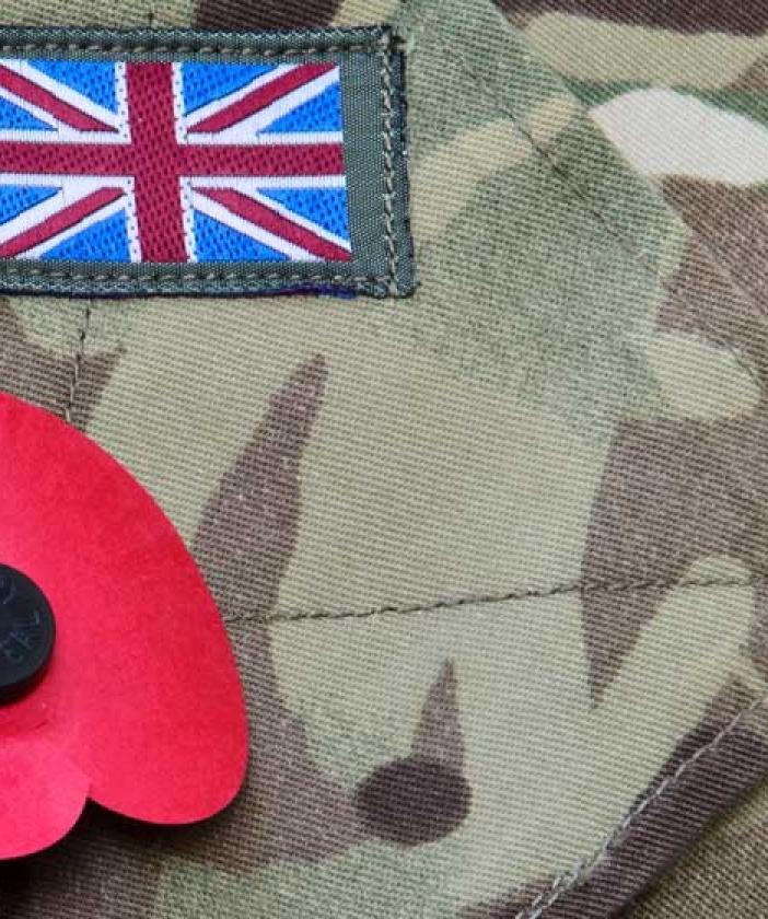 Poppy on military jacket