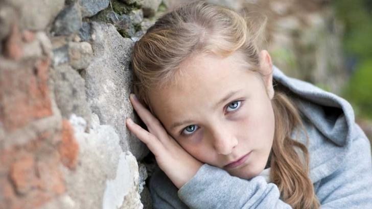 Sad looking girl